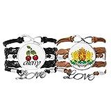 Bestchong Lot de 2 bracelets Sofia Bulgaria avec cordon en c