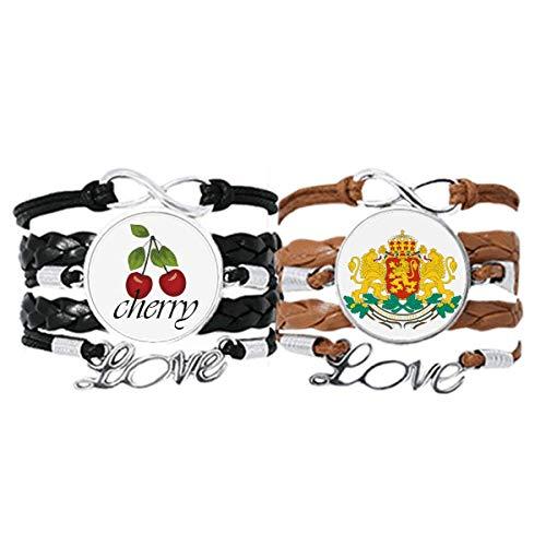 Bestchong Sofia Bulgaria - Pulsera de piel con emblema nacional y correa de mano