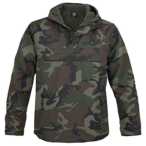 BW-ONLINE-SHOP Hooded Windbreaker mit Fleecefutter Woodland - M