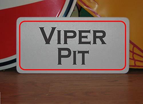 Générique Viper Pit Plaque en métal pour Sentier de randonnée en Montagne et Parcours de Golf