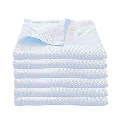 Microfaser Geschirrtücher 68 x 42 cm aus Polyester in 4 verschiedenen Farben, Set-Größe:6-teiliges Set, Farbwahl:Weiß