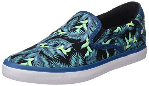 Quiksilver Shorebreak Slip M Zapatillas Hombre, Multicolor (Blau/Grün/Weiß), 39 EU