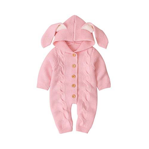 LEXUPE Baby Kleidung Jungen Mädchen Strampler Neugeborenen Overall(B-Rosa,70)