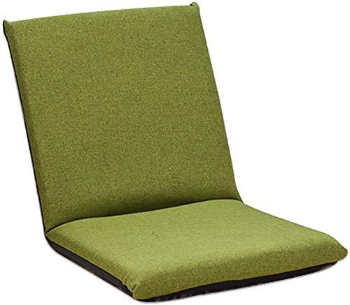 Boden Stuhl, Einstellbare 6-Position Memory Foam Kinder Folding Sofa Kinder Padded Gaming Chair Lounge Chair Boden Sofa Indoor Bequeme Rückenstütze,Grün
