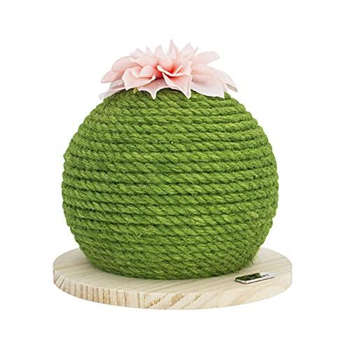OMVOVSO Cactus Scratch Ball, Gato Bolas de Rayas Bolas para Gatos, por Supuesto, sisal rasguño árbol Divertido Juguete Interactivo para Gatitos y Gatos,Verde
