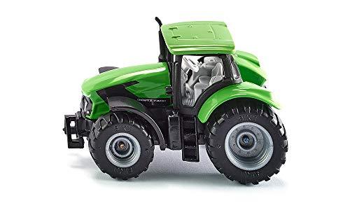 SIKU 1081, DEUTZ-FAHR TTV 7250 Agrotron Traktor, Grün/Schwarz, Abnehmbare Kabine, Reifen aus Gummi