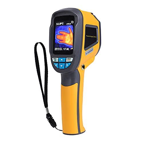 Xinrub Termocamera HT-02D, Termocamera Portatile a Raggi Infrarossi (IR) Professionale Palmare Termometro Thermal Imager Dispositivo a Infrarossi Imaging con Risoluzione IR 1024Pixels e Intervallo di