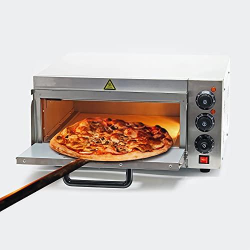 Wiltec Pizza-Backofen 2000W mit Schamottstein für Pizza wie aus dem Steinofen Pizzaofen Backofen Gastro