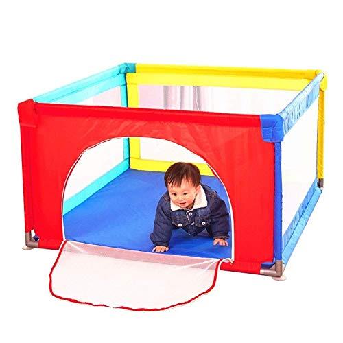DX hardlooprooster draagbare babyspeelplaats voor kleine kinderen, groot veiligheidshek voor kinderen, draagbaar speelhek, meerkleurig (grootte: 100x100x70cm)