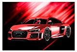 Leinwand-Bild auf Leinwand Auto Audi R8 Wandbild Automobil