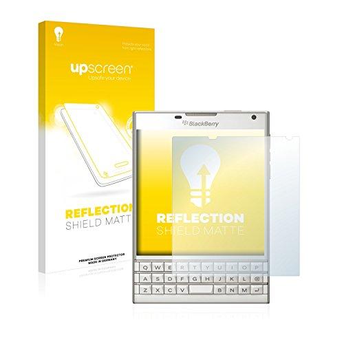 upscreen Entspiegelungs-Schutzfolie kompatibel mit BlackBerry Passport – Anti-Reflex Bildschirmschutz-Folie Matt