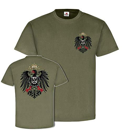 Preußen Adler Typ Wilhelm Heimat Wappen Tier Berlin - T Shirt #18575, Größe:XXL, Farbe:Oliv