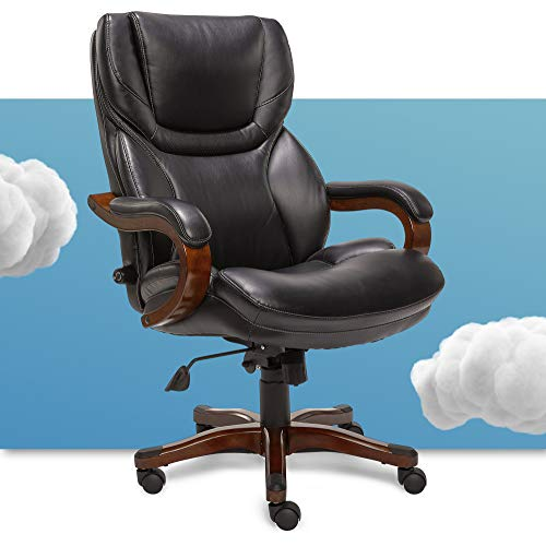 Serta Big and Tall Executive Office Chair with Wood Accents