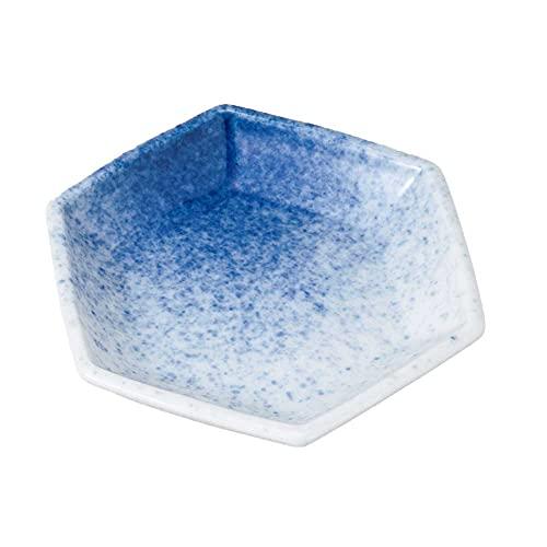 小皿 醤油皿/ 吹墨六角3.0皿 /刺身 お新香 梅干し 珍味 陶器 業務用 家庭用 Small sized Plate