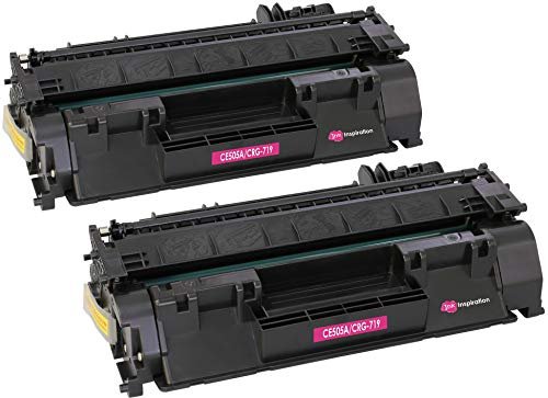 2 INK INSPIRATION® Premium Toner für HP Laserjet P2030 P2033 P2034 P2035 P2035N P2050 P2055 P2055D P2055DN P2055X CE505A 05A Canon LBP-6300DN LBP-6310DN LBP-6650DN LBP-6670DN CRG 719 | 2.300 Seiten
