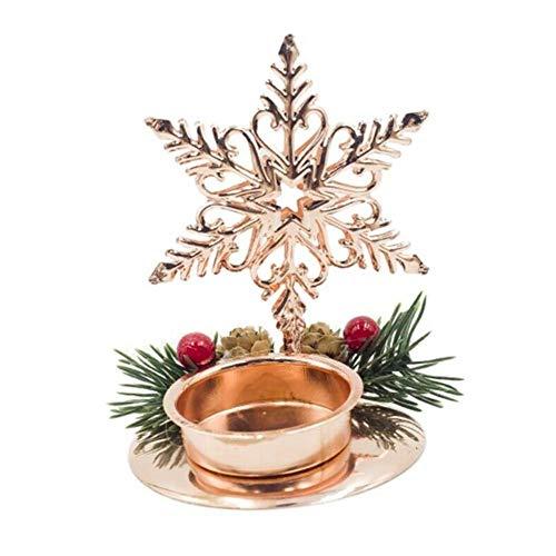 Candelabro de Navidad Hierro forjado Decoraciones navideñas ...