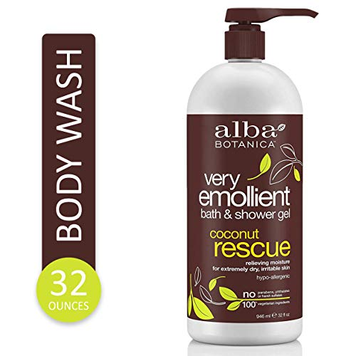 Alba Botanica Very Emollient Coconut Rescue Bath & Shower Gel, 32 oz.