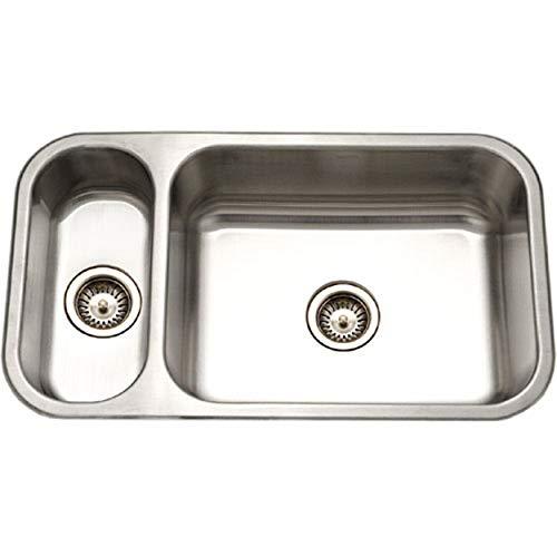 Houzer EHD-3118-1 Elite Series Undermount Stainless Steel 70/30 Double Bowl Kitchen Sink