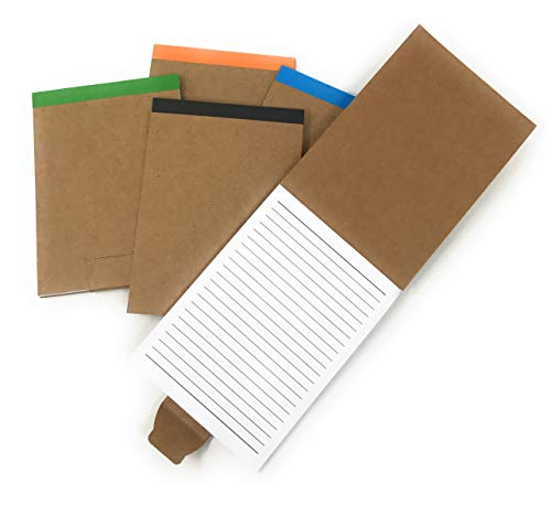 20 Bulk Fold Over Notepad Notebook Assortment - Made From 80% Post Consumer Recycled Paper …