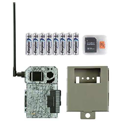 Spypoint Link Micro 4G Cellular Trail Camera with Batteries, Micro SD Card, and Steel Security Box (AT&T (USA Nationwide))