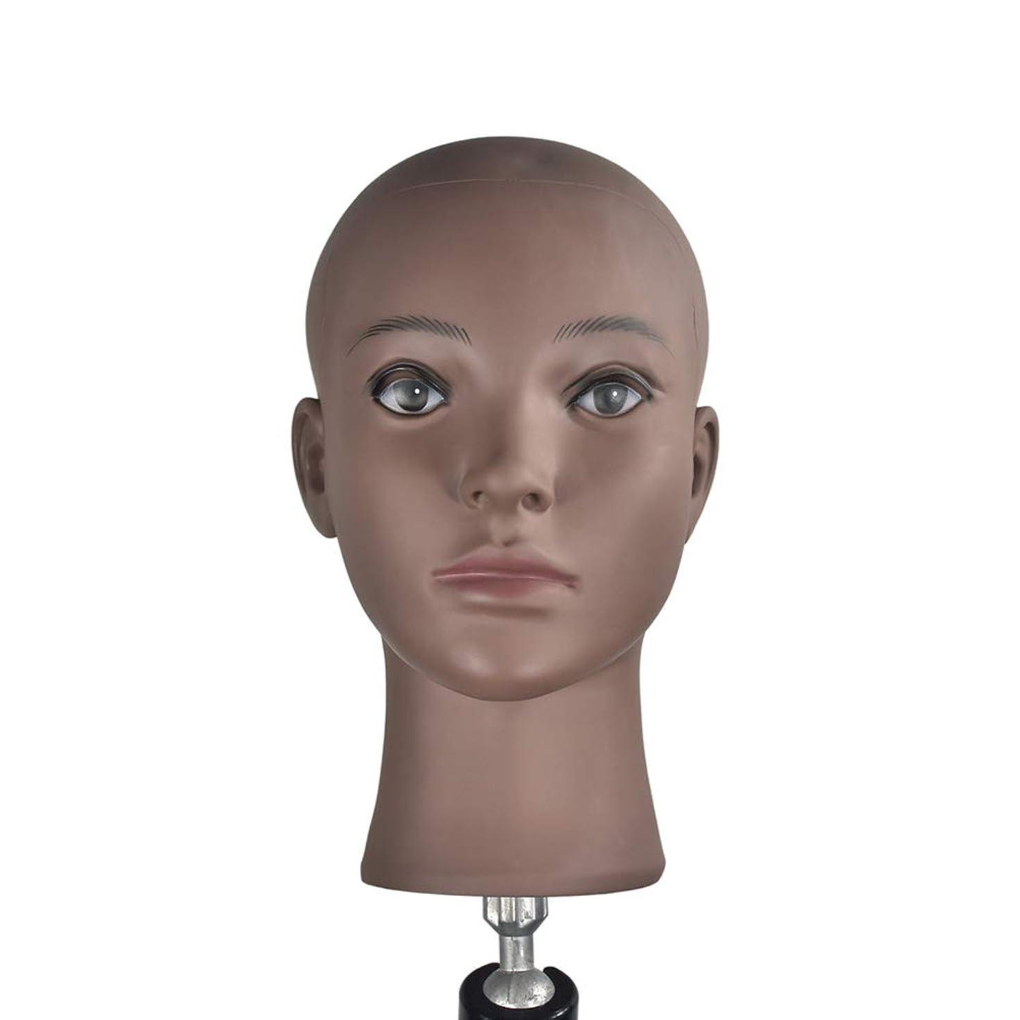 突き出す相関する子羊Lurrose マネキンヘッドハゲ女性マネキンヘッド美容トレーニングヘッド用かつら作り帽子帽子飾り展