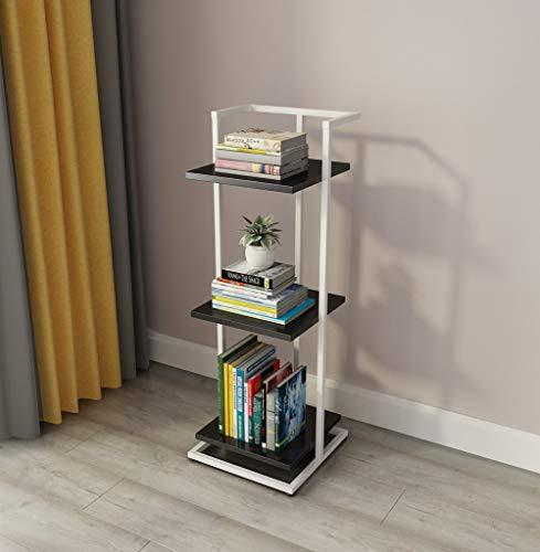 Ldwxxx Helf Estrecho Piso Palabra de Reparto Estante de Hierro Marco Creativo Librero pequeño Dormitorio (Color : C)