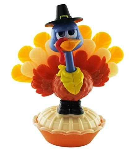 Greenbrier Miniature Thanksgiving Solar Powered Dancing Turkey - 3.75 x 4.5 Inches