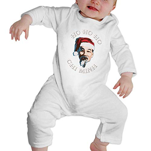 GLGFashion Unisex Chi Minh Merry Chistmas Santa Newborn Baby 6-24 Months Baby Climbing Clothing Baby Long Sleeve Garment Black Combinaisons Body bébé Barboteuse