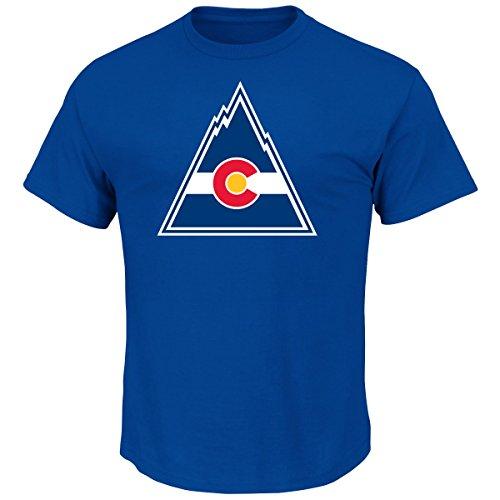Majestic Colorado Rockies NHL Vintage Tek Patch Embroidered Premium T-Shirt