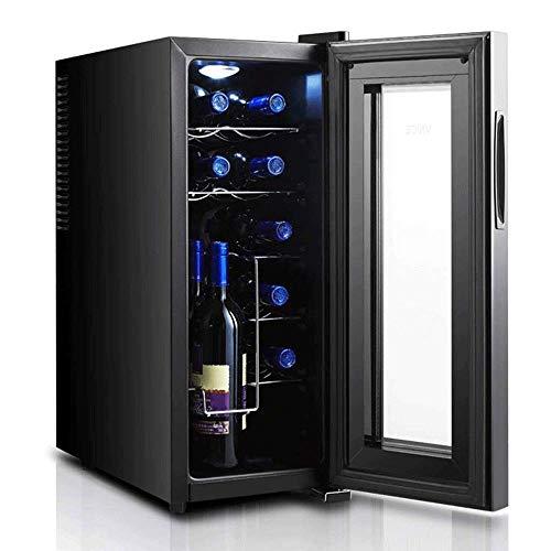 El gabinete para vinos es pequeño y Compacto, con Dos Capas de Vidrio Templado El diseño Hueco y Grueso Evita los Rayos UV