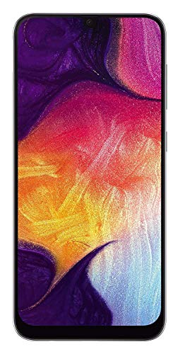 "Samsung Galaxy A50 (64GB, 4GB RAM) 6.4"" Display, 25MP, Triple Camera, Global 4G LTE Dual SIM GSM Factory Unlocked A505G/DS (International Model w/ 64GB MicroSD Bundle) (White)"