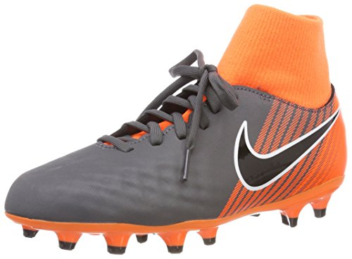 Nike Boy's Football Boots, Grey/Orange, 38