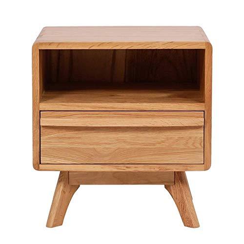 TXXM® Herstellung Einfaches Massivholz Nachttisch Nordic Mini Kleines Schlafzimmer Schlafzimmer Nachttisch Massivholz-Lagerschrank Praktische Möbel