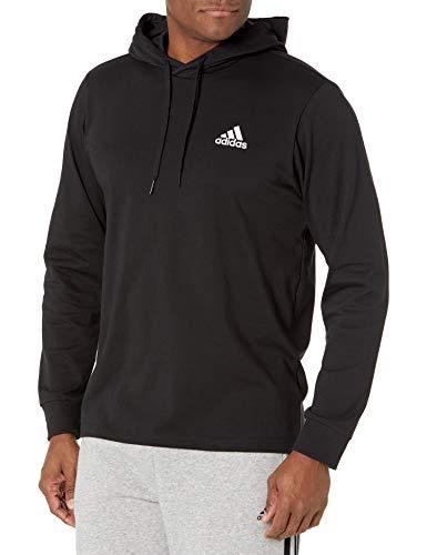 adidas,Mens,Small Logo Single Jersey Hoodie,Black,X-Large
