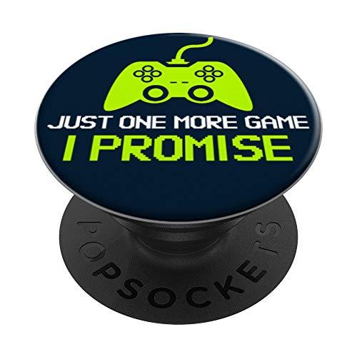 Gamer Funny Nur noch ein Game Gaming Controller PopSockets Ausziehbarer Sockel und Griff fur Smartphones und Tablets