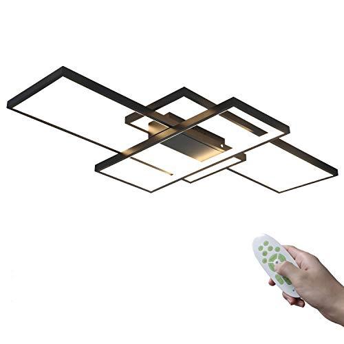 Moderno Rectángulo LED Lámpara de techo Regulable Lámpara de salón 95W con...