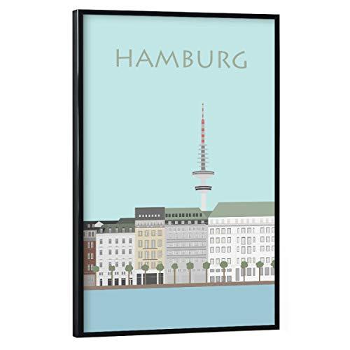 artboxONE Poster mit schwarzem Rahmen 75x50 cm Hamburg Städte/Hamburg Hamburg 5