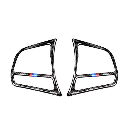 Demarkt Carbon Faser Stil Lenkrad Dekoration Rahmen Besatz für 1er F20 2012-2018/ 2er F21 2014-2018/ 3er F30 2013-2018/ 3GT F34 2013-2018/ 4er F32 2013-2018, 1 Paar