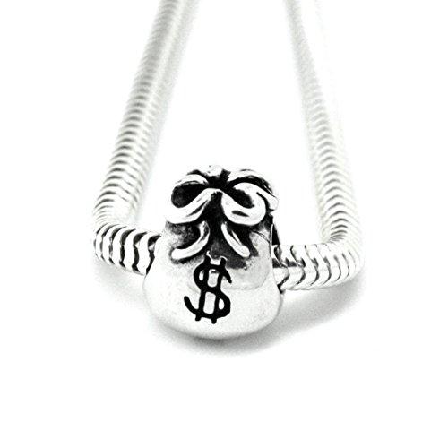 Buckets of Beads Money Bags Charm Bead Fits Pandora Troll Biagi Zable