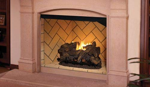 Best Price Superior Fireplaces 36'' Vent-Free Firebox with Ivory Split Herringbone Liner