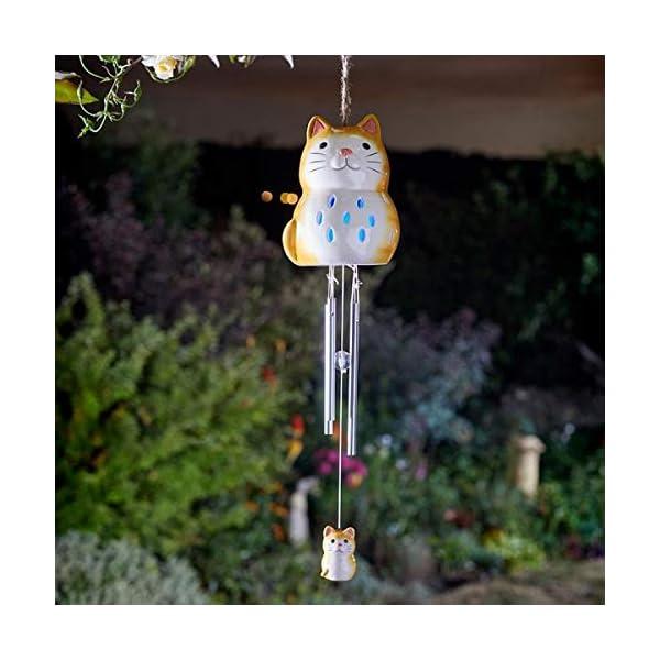 HomeZone Garden Mile® Ceramic Animal Wind Chimes | Unique Outdoor Hanging Garden Wind Ornaments 1