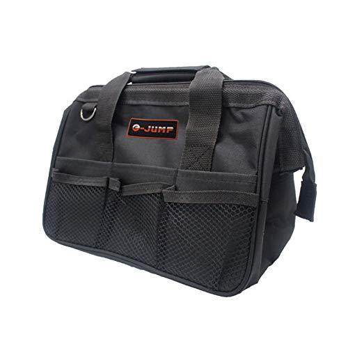Tool Bag,CinturóN Para Herramientas 1pc Bolsa de herramientas Hardware Toolkits multifunción Bolsa portátil de alta calidad Bolsas de almacenamiento de lona de lona 3 colores (Color : Black)