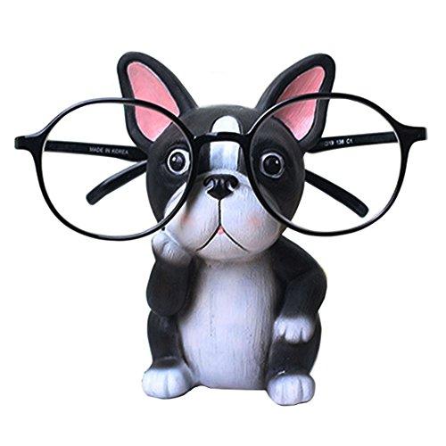 Puppy Dog Glasses Holder Stand Eyeglass Retainers Sunglasses Display Cute Animal Design Decoration (Bulldog)