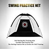 WUTONG Golf Net Indoor and Outdoor Training Backyard Batting Game Foldable Golf Batting cage Indoor Ball...