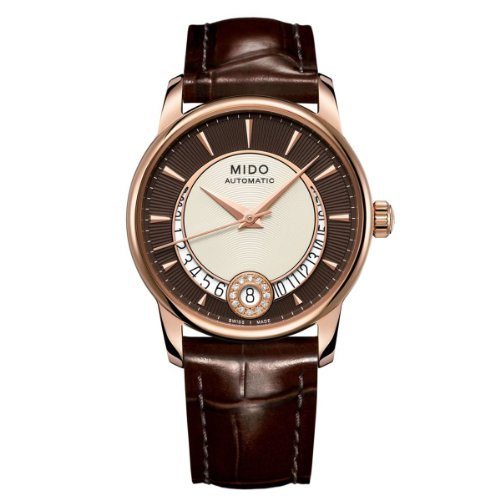 Mido Damen-Armbanduhr XS Baroncelli Analog Automatik Leder M0072073629100
