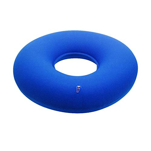 Fineday Donut Inflatable Pillow with Hemorrhoid Pillow Pump - Lumbar Support, Home Decors for Christmas New Year (Blue)