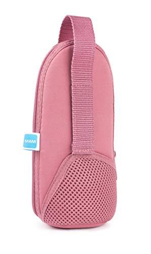 MAM Thermal Bag mit Isolierschicht, Thermotasche hält Flüssigkeiten warm und kalt, Isoliertasche für viele handelsübliche Babyflaschen, rosa