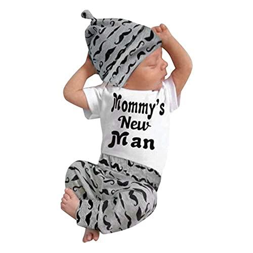 nanxing Camiseta con letras y pantalones para bebé de 02 años