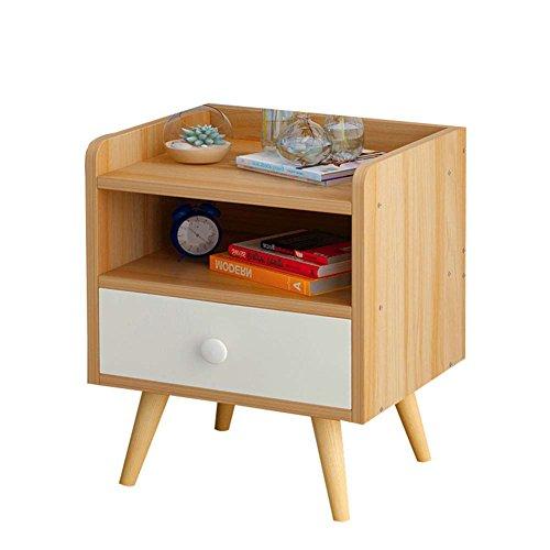 Table de chevet JCOCO avec Panneaux à Base de Bois tiroirs de Rangement, Chambre Casier de Chevet Boîte de Rangement (Couleur : A, Taille : 33 * 28 * 42CM)