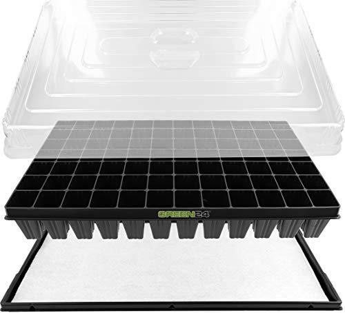 GREEN24 Hydroponik XL84 Zimmergewächshaus Pro mit automatischer Bewässerung für die Anzucht Zimmer Treibhaus Gewächshaus